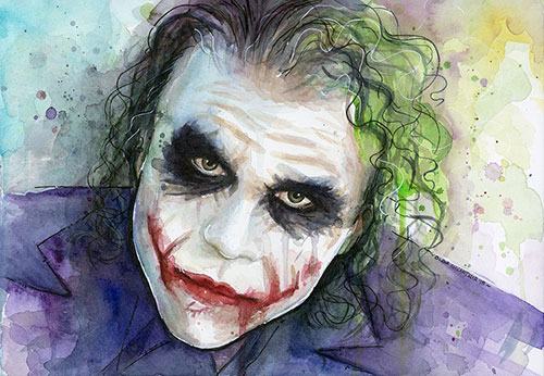 The Joker as a piece of art